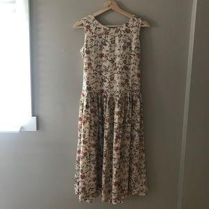 Vintage Linen-type fabric dress